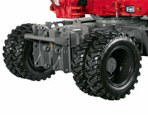 TB 295 W – Bereifung und Pendelachse