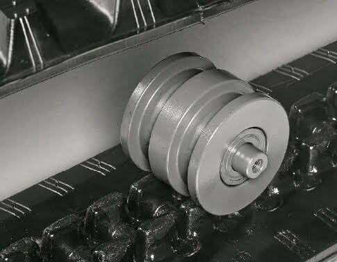 TB 290 – Dreiflanschige Laufwerksrollen